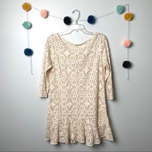 Free People Lace Cream Dress